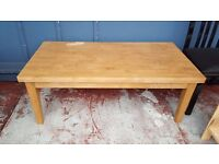 Light Real Wood Coffee Table in Good Condition