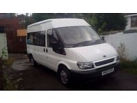 ford transit mini bus 12 seater ideal camper van motorhome full mot