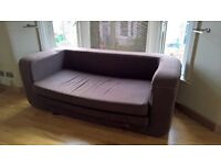 Black Habitat fold out sofa bed - used condition, needs upholstery clean