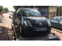 2004 Citroen C2 Lx 3dr 1.1 Petrol Black BREAKING FOR SPARES