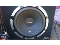 Vibe SLR 12'' Subwoofer and Sony MEX-N4200BT Headunit