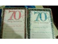 Invites for 70th party
