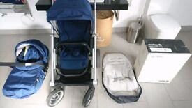 Mutsy IGO pram and pushchair almost like new! with all accessories too