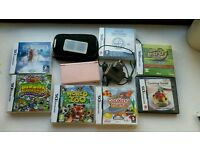 Nintendo DS Pink with charger, stylus, case and 7 games
