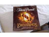trivial pursuits - lord of the rings - unopened
