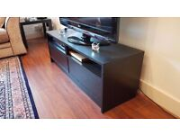 TV Table - Black with wood grain effect (IKEA) - Perfect Condition – Bargain