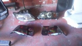 SAAB 93 AERO TINTED FRONT LIGHTS. 2004 EXCELLENT CONDITION