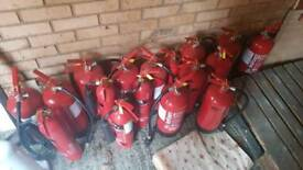 fire extinguishers £10 each or 2 for £15