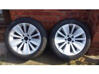 for sale 2 bmw genuine alloys wheels with tires