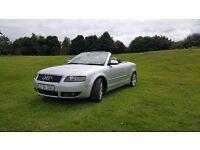 2004 AUDI A4 2.5 TDI SPORT AUTO, Cabriolet, low mileage, heated leather seats, low mileage