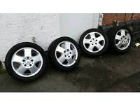 """Mercedes A Class 15"""" Alloy Wheels with tyres Mint Condition"""