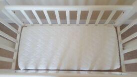 John Lewis Anna crib and mattress