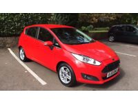 Red Ford Fiesta Zetec 1.25L, Low milage, very economical, 3 owners, MOT until 05/03/19