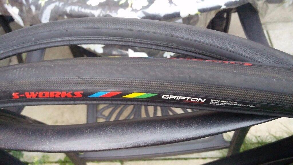 2 x Specialized S Works Turbo Gripton Folding Clincher barely used