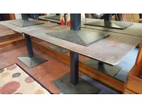 2 X Large Solid Cast Iron Tables