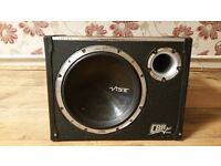 CAR SUBWOOFER VIBE CBR 1600 WATT WITH BUILD IN AMPLIFIER ACTIVE BASS BOX ENCLOSURE SUB WOOFER AMP