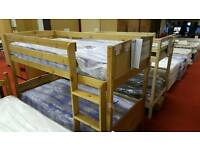 Bunk bed wooden turns into singles tcl