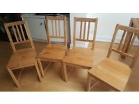 4x dining chairs