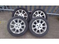 Set of alloys wheel for Roer 25 / MG ZR ETC... with nearly new tires 185/55/15... !!!