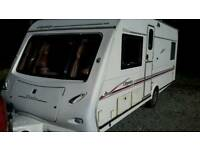 Elddis Odyssey 534 4 berth single axle caravan 2004 with fixed bed