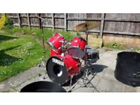 Yamaha 5 piece rock drum kit (red) for sale