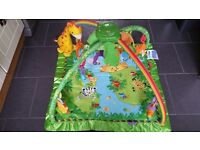 Fisher Price Rainforest Melodies and Lights Deluxe Play Mat Gym