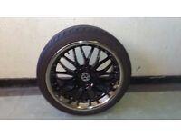 "VAG 18"" deep dish alloys (x 4) + tyres"