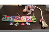 Musical cot caterpillar and lullaby mobile