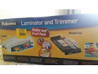 Fellowes Lamminator and Trimmer (Brand New)