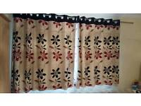 """New curtains """"Paul Simon """" fitted with blackout lining"""