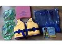 kids swim vest age 2-4, float and arm bands