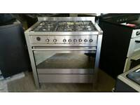 Smeg dual fuel 90cm range cooker hardly used