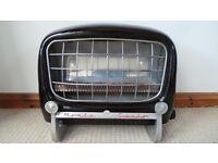 Vintage Retro Black Enamel & Chrome Metal Eno Gas Fire Monte Carlo (Car Front Pinball Jukebox) RARE