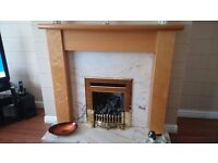 For Sale - Beech effect fire surround. Excellent condition.
