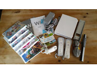 Nintendo Wii Console and 7 Games