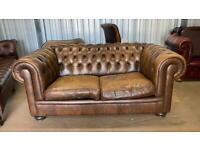 Stunning NATUZZI 2 seater leather chesterfield sofa RRP £2000 bargain £449