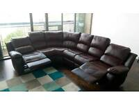Amazing Leather Recliner Sofa - Brown