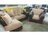 Rrp£895 tamika corner sofa plus matching arm chair brand new good savings