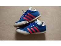 Adidas samba blue red stripe good condition