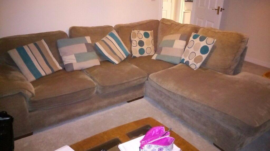 Corner sofa, brown