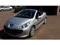 PEUGEOT 207 cc CONVERTIBLE METALLIC SILVER with BLACK LEATHER