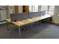 Bench desking in maple 1200mm X 720mm per position