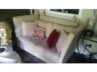 2 Beige Knowl 2 Seater Sofas
