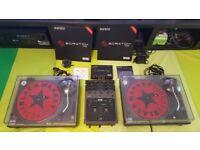 Technics 1210 Mk2 pair / Rane TTM 65 / Serato Scratch Live - Complete DJ Setup