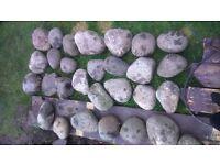 Stone Rockery bolders pebbles medium large