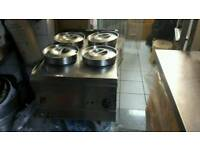 Bains marie 4 stainless steel pots