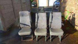 3 individual van seats
