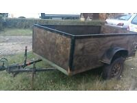 6x4 trailer woodensides tailgate