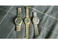 3 mens Watches spares or repairs
