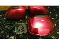 Genuine Honda vfr panniers and top box